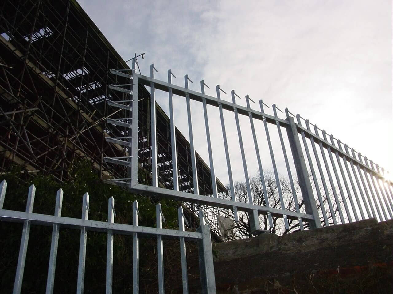 Barbican Barbed Top Vertical bar fencing