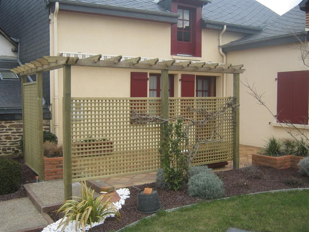 Pergola avec treillis Lattice